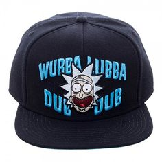 Rick And Morty Wubba Snapback Hat Rick And Morty Hat 6684a3b0bd93