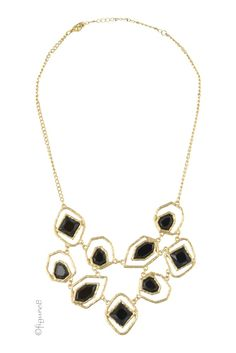Black Diamond Jeweled Necklace in Black Jewels.  Please use coupon code NewProducts to receive 15% off these items. To receive the discount, please place your order by midnight Monday, July 25,2016.