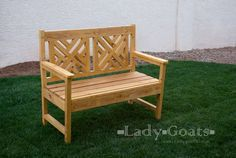 Ana White | Build a Woven Back Bench | Free and Easy DIY Project and Furniture Plans I think Mr. K will be building this for me this summer with a nice white or dark stain...don't want those building trades skills to get rusty!