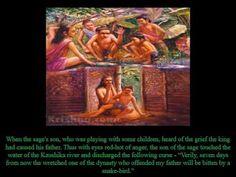 King Parikshit's curse gave the world the Bhagavatha Puranam Stories For Kids, King, World, Artwork, Stories For Children, Work Of Art, Auguste Rodin Artwork, Artworks, The World