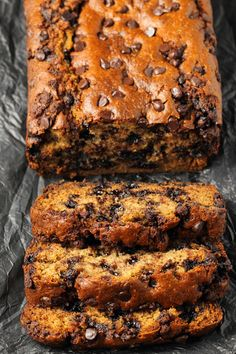 The Highest Three Chicory Espresso Manufacturers - Include A Novel Taste On Your Cup Of Joe Vegan Chocolate Chip Banana Bread That Is Perfectly Moist, Rich, Deliciously Sweet And Packed With Banana Flavor Ideal For Dessert Or Breakfast Vegan Banana Bread, Chocolate Chip Banana Bread, Chewy Chocolate Chip Cookies, Banana Bread Recipes, Vegan Chocolate, Blueberry Recipes, Chocolate Lovers, Chocolate Chips, Chocolate Cake
