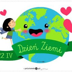 Pasowanie na przedszkolaka - napis - Printoteka.pl Earth Day, Paper Decorations, Montessori, Classroom, Education, Logos, Children, Diy, Fictional Characters