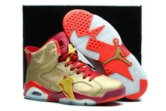 4a07394a66a Find Jordans 6 Super Fly Gold Red Orange Shoe online or in Nikelebron. Shop  Top Brands and the latest styles Jordans 6 Super Fly Gold Red Orange Shoe  at ...