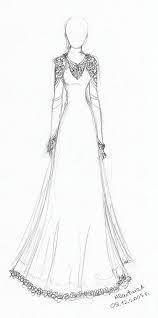 نتيجة بحث الصور عن how to draw wedding dress