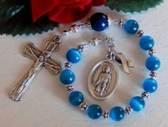 St Peregrine Colon Cancer Awareness One by HeavenlyHandsMade, $22.00