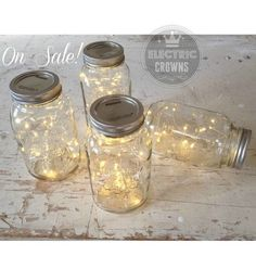 5+ Fairy Lights for Mason Jars or Centerpieces Rustic Engagement Party Decor…