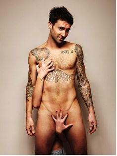 "Thank you Adam Levine for posing for the ""Everyman"" foundation to raise awareness about testicular cancer =)"