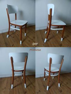 Furniture makeover: making something new with old- Vintage style bistro style chair, repainted chair, makeover DIY furniture -