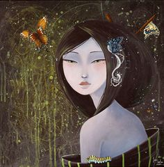 She had a crown of butterflies