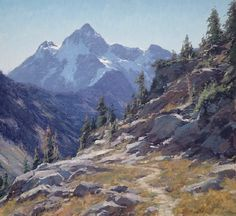 "Matt Smith ~ ""Mount Shuskan from Artists Point"" (oil, 22x24)"