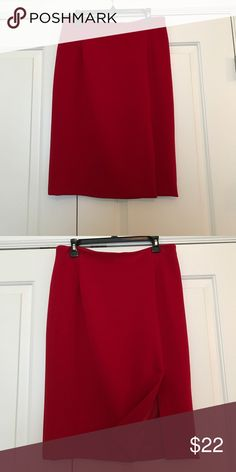 Skirt Skirt with front slit; zips in back; wool crepe Garfield & Marks Skirts Pencil