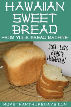 Bread Machine Recipes Healthy, Bread Maker Recipes, Best Bread Recipe, Easy Bread Recipes, Breadmaker Bread Recipes, Healthy Recipes, Hawaiian Sweet Bread Machine Recipe, Hawaiian Sweet Breads, Hawaiian Rolls