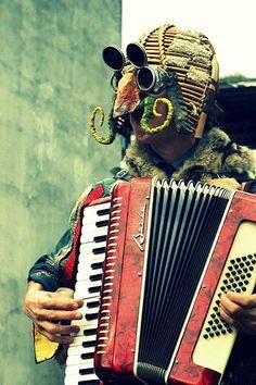 Italian Street Performer at the Tamsui International Environmental Art Festival- Julie K