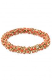 Stella & Dot new collection - Vintage Twist Bracelet in coral