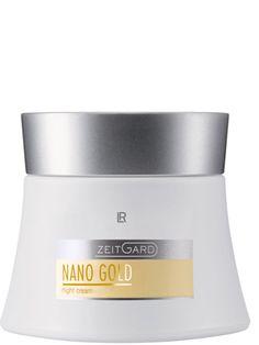 Nanogold nattkräm. Stödjer hudens regeneration och ger den tillbaka sin ursprungliga elasticitet och smidighet. Användning: Appliceras på kvällen över ansikte och hals efter rengöring. Speciella ingredienser: Guld, siden, bivax, solrosolja  • Rikhaltig, lyxig kräm som vårdar huden intensivt • Med Nanogold, sidenproteiner, TIMP-peptid®, specialkomplexet Aglycal® och SYN®-COLL** • Passar utmärkt även som dagkräm  Dermatest 50 ml.