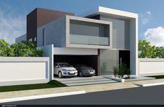 Unbelievable Modern Architecture Designs – My Life Spot Duplex Design, Villa Design, House Front Design, Modern House Design, Contemporary Architecture, Architecture Design, Small Modern Home, 3d Home, Facade House