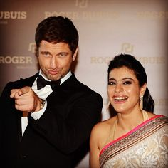 Bollywood actress Kajol and Hollywood star Gerard Butler were delighted to attend the major Middle Eastern flagship boutique for Roger Dubuis.