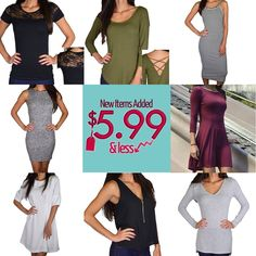 New Items Reduced to $5.99 & LESS Bigger Savings - Limited Quantity In-Stock!!! Check $5.99 & LESS category – Over 3500 items $5.99 & Less 599fashion.com