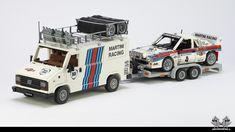 Fiat Ducato, Lego Room, Car Trailer, Lego Pieces, Rally Car, Lego Creations, Martini, Thor, Cars