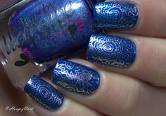 HungryNails: Blue Friday   Feenstamping mit Colors by Llarowe & OPI