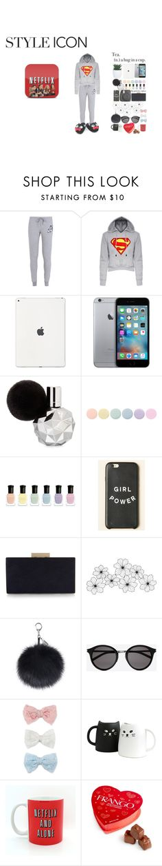 """""""Netflix and chill"""" by pernille-sophie ❤ liked on Polyvore featuring NIKE, Deborah Lippmann, Monsoon, Yves Saint Laurent, Decree and Frango"""