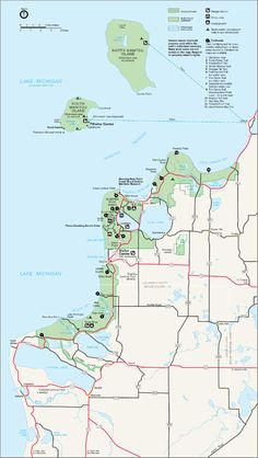 Sleeping Bear Dunes National Lakeshore Map