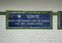 Weirdly, I want my bath room to look like a Paris Metro station. Glossy white tiles, hints of blue. Yes, and yes.
