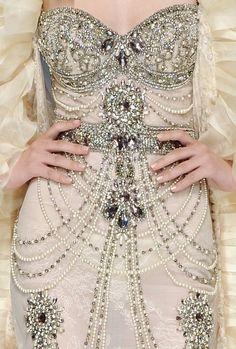 #weddingstyle #weddings #bride #dress #beaded #gown #detailing repinned by www.hopeandgrace.co.uk