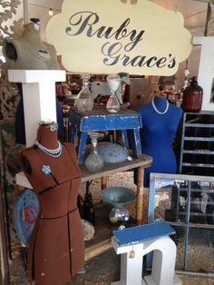Ruby Grace's booth at the Homestead Fall Antique Fair