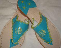 Custom Monogrammed Leather Sandals