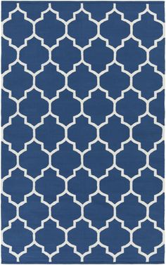 Vogue Blue Geometric Claire Area Rug