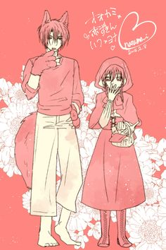The Big Bad Hak and Little Red Riding Yona!! By narume_i on pixiv