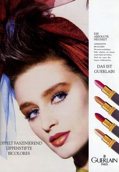 Aly Dunne, Guerlain Makeup Ad 1987