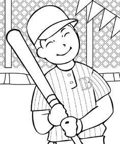 Baseball Coloring Pages Getgrizzlie