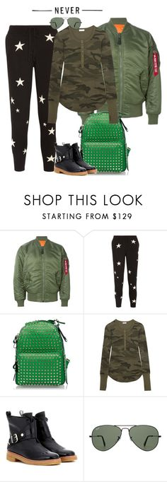 """hva faen⁉️"" by natalia ❤ liked on Polyvore featuring Alpha Industries, Chinti and Parker, Valentino, Splendid, Lanvin and Ray-Ban"