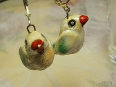 Ceramic Handmade Jewelry    Earrings  Bird by NellanyArt on Etsy