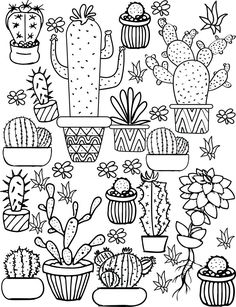 cactus coloring page.html