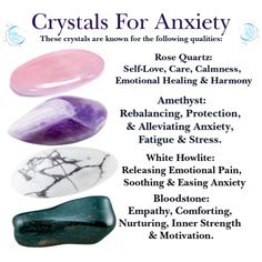 4 x Crystals For Anxiety Amethyst, Rose Quartz, White Howlite & Bloodstone Tumblestones Stones Healing Energy Stress Protection Empaths Crystal Healing Stones, Crystal Magic, Crystal Guide, Crystal Altar, Jade Crystal, Crystals For Healing, Crystals For Sleep, Grounding Crystals, Crystals In The Home