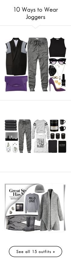 """""""10 Ways to Wear Joggers"""" by polyvore-editorial ❤ liked on Polyvore featuring Joggers, waystowear, Ter Et Bantine, Abercrombie & Fitch, Givenchy, Christian Louboutin, A.L.C., House of Harlow 1960, Marc by Marc Jacobs and Azature"""