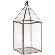 Out There Interiors Simple Lantern In Antique Copper (180 CAD) ❤ liked on Polyvore featuring home, home decor, candles & candleholders and antique copper lantern
