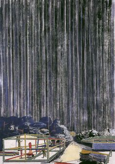 Neo Rauch, Das Haus, 1996, oil on canvas, 196 x 137 cm, Collection Deutsche Bank, © VG Bild-Kunst, Bonn 2011 / Courtesy Galerie EIGEN + ART Leipzig/Berlin, and David Zwirner, New York, Photo: Uwe Walter, Berlin