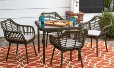 small outdoor dining set I bistro dining I outdoor space I outdoor living - Small Outdoor Patio Ideas On a Budget - Balcony Furniture Design Small Balcony Furniture, Patio Furniture For Sale, Rustic Outdoor Furniture, Balcony Chairs, Patio Furniture Sets, Furniture Decor, Adams Furniture, Furniture Design, Small Outdoor Patios