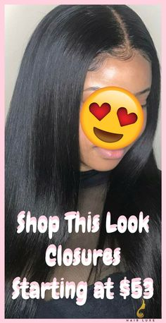 Sew in hairstyles with closure. Visit our website and shop now for closures starting at $53, bundles starting at $40. #sewinhairstyle #laceclosure #closure #sewinweave #bundles
