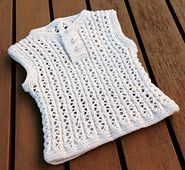 Ravelry: Eyelet rib baby vest pattern by Anne Dresow