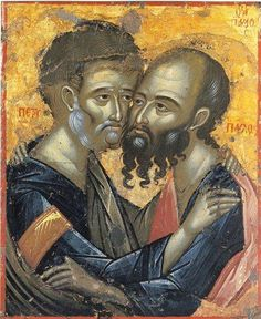 Sunday Reflection with Fr Robin Gibbons: Feast of SS Peter and Paul - Independent Catholic News Religious Images, Religious Icons, Religious Art, Orthodox Catholic, Catholic Saints, Catholic News, Orthodox Christianity, Byzantine Icons, Byzantine Art