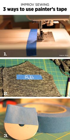 Sewing tools: painters tape