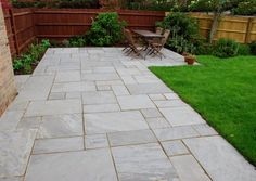 Hand split Kandla Grey Tumbled & Calibrated Indian sandstone paving often the first choice for natural stone design in your garden with a softer finish. From Calibrated, smooth cut edge to tumbled and hand cut, all at Infinite Paving. Grey Paving, Sandstone Paving, Back Gardens, Small Gardens, Outdoor Gardens, Diy Garden Decor, Garden Ideas, Paved Patio, Patio Tiles