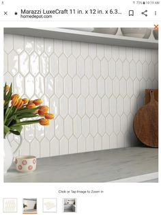 Ceramic Mosaic Tile, Mosaic Wall Tiles, Glazed Ceramic, Hexagon Tile Backsplash, Cement Tiles, Moroccan Tile Backsplash, Backsplash Panels, Wall Tiles Design, Herringbone Backsplash