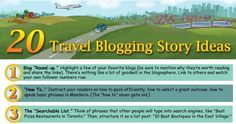 A Quick-Start List: If you're thinking about starting a travel blog, here are 20 travel blog ideas you can use.