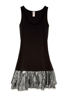 this was my new year's dress (in black/silver)